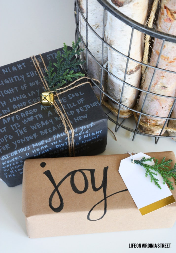 DIY Chalk Marker Gift Wrap - Pretty Packages Series - Life On Virginia Street