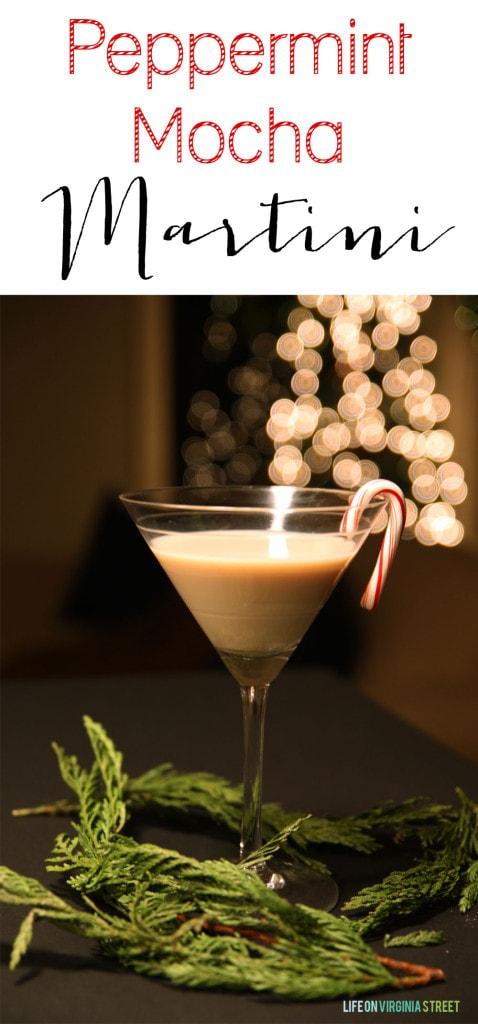 Easy Peppermint Mocha Martini Recipe - Life On Virginia Street
