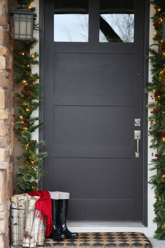 Front Door Christmas Decor - Life On Virginia Street