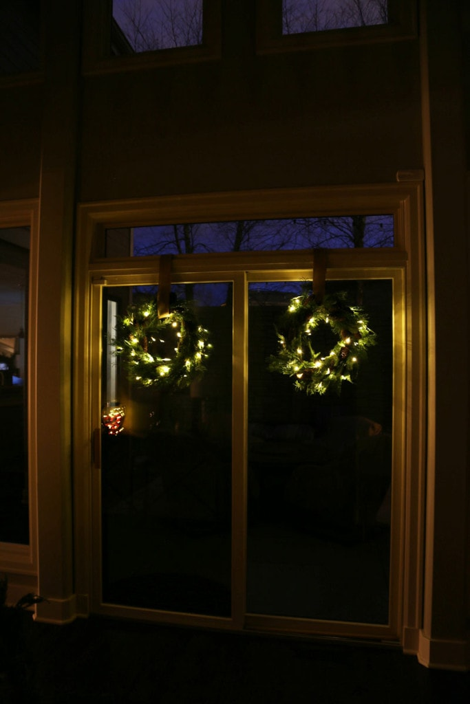 Hallway Wreaths at Night - Life On Virginia Street