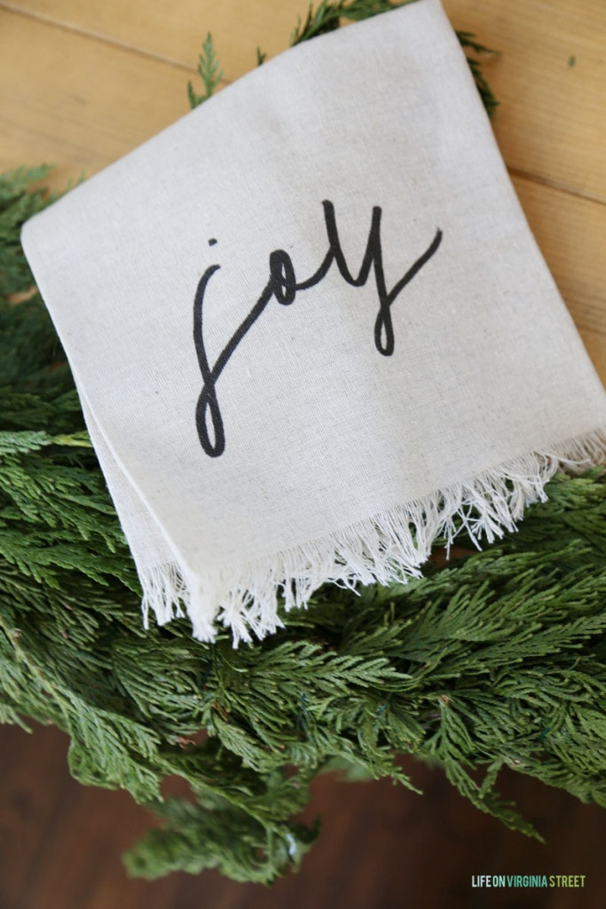 Joy Christmas Napkins - Life On Virginia Street