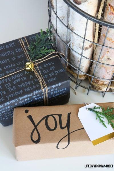 DIY Chalk Marker Gift Wrap