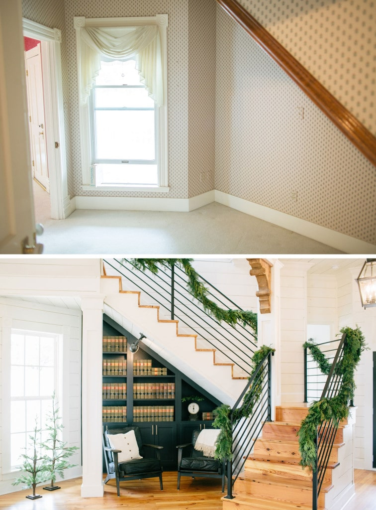 Magnolia House Staircase Before & After