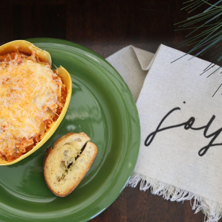 Spaghetti Squash Lasagna Boats Recipe
