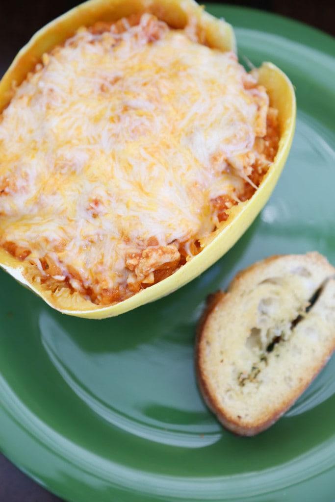 Spaghetti Squash Lasagna Boat Recipe - Life On Virginia Street