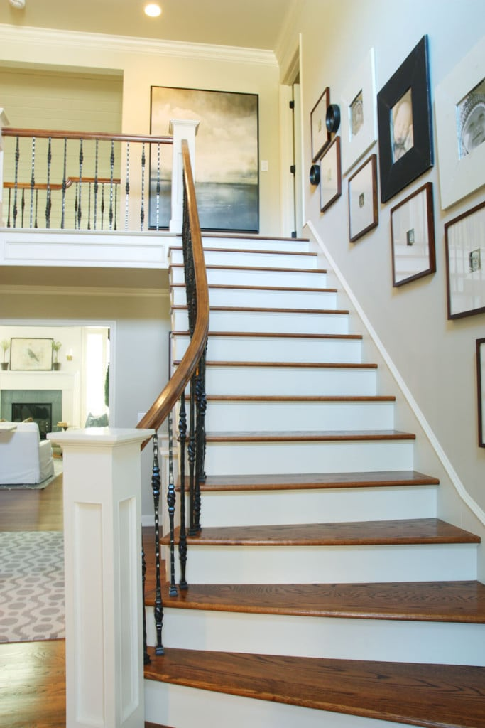 Staircase - Neutral Home Tour - Life On Virginia Street