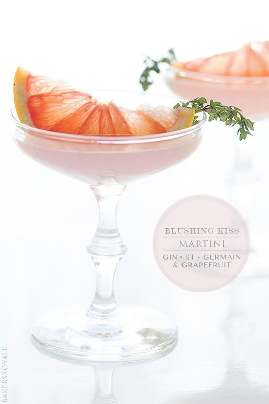 Blushing Kiss Martini via Bakers Royale