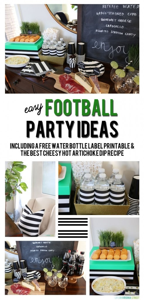Easy Football Party Ideas graphic.