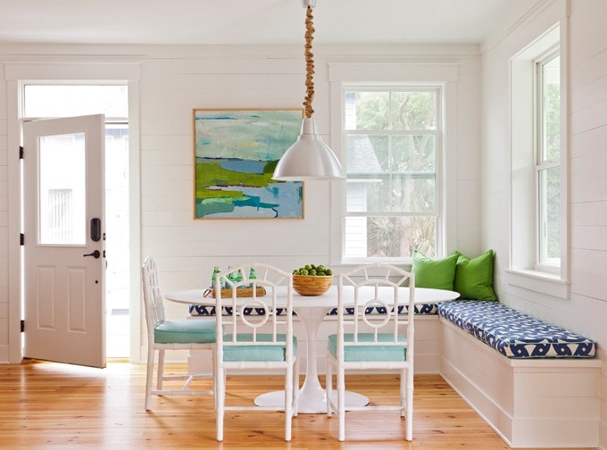 Eclectic Charleston Breakfast Nook