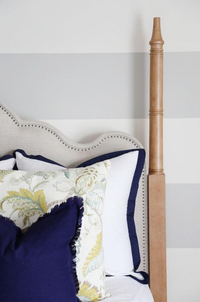 Guest Bedroom Pillow Details