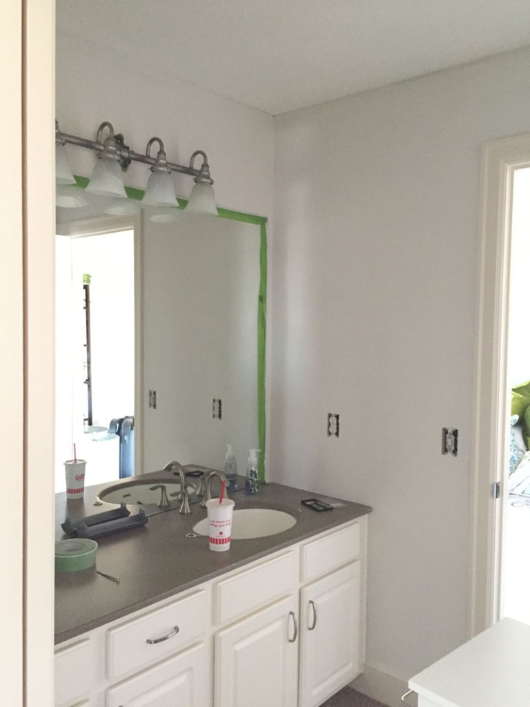 King Guest Bathroom Painted One Coat - Life On Virginia Street