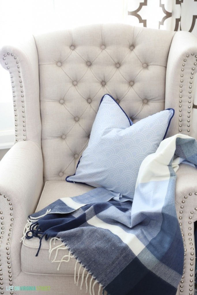 Office Chairs With Blue Pillows And Throws Life On Virginia Street