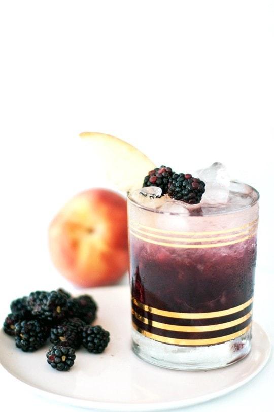 Peach and Blackberry Bramble via Sugar and Cloth