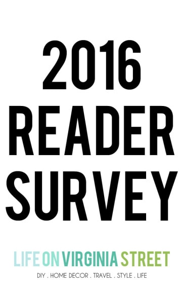 Reader Survey & A Giveaway!