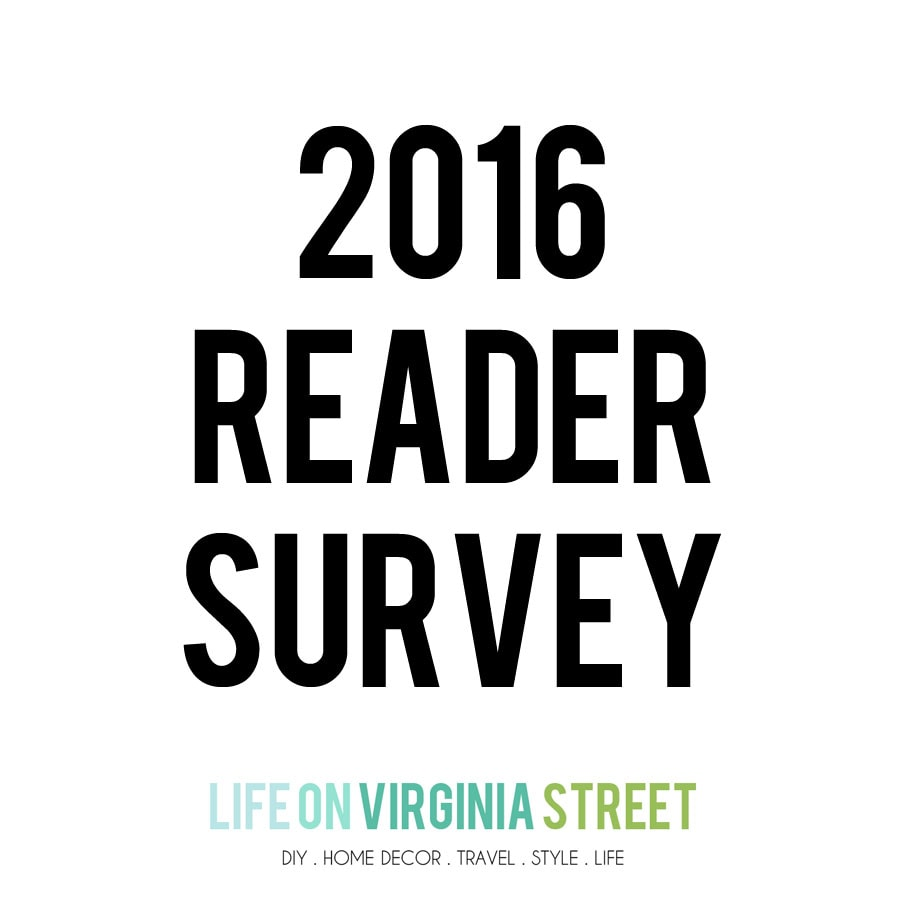Reader Survey & A Giveaway!