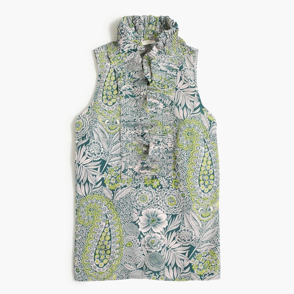 Ruffle-Collar Shirt