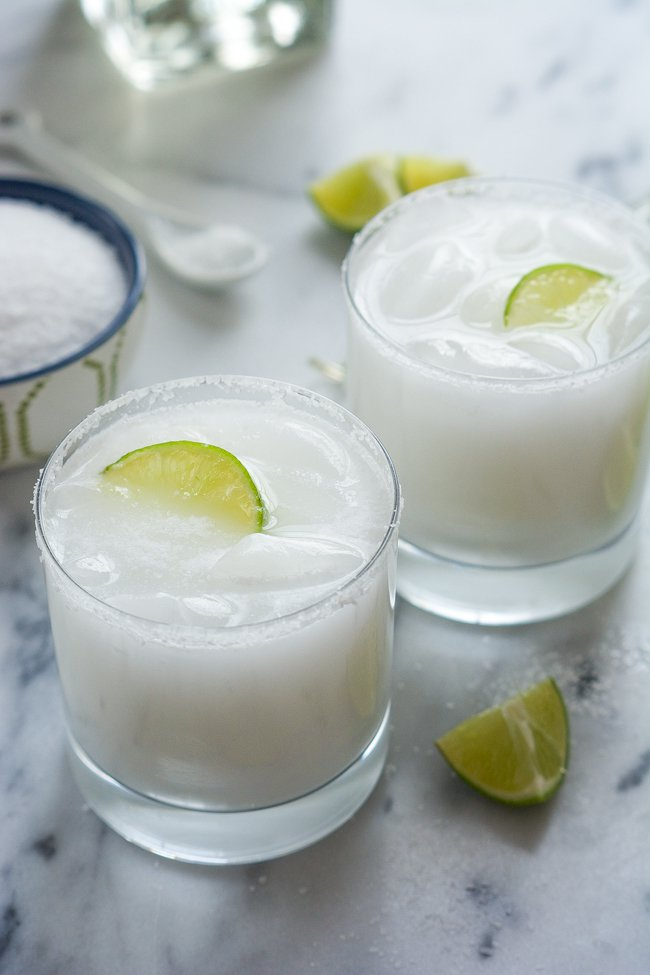 Skinny Coconut Margarita via With Salt and Wit