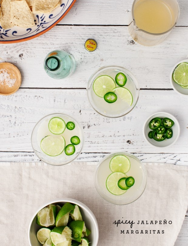 Spicy Jalapeno Margaritas via Love and Lemons
