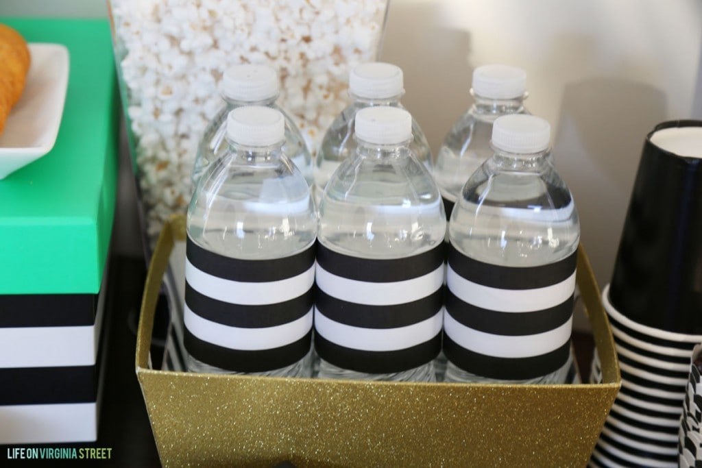 Striped Water Bottle Printable - Life On Virginia Street