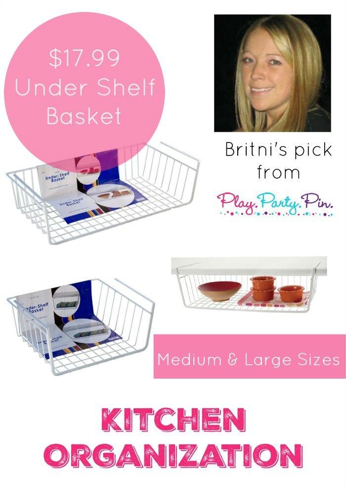 Under Shelf Basket great for Kitchen Organization
