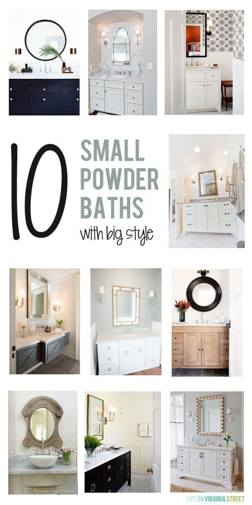 10 Small Powder Bath with Big Style via Life On Virginia Street