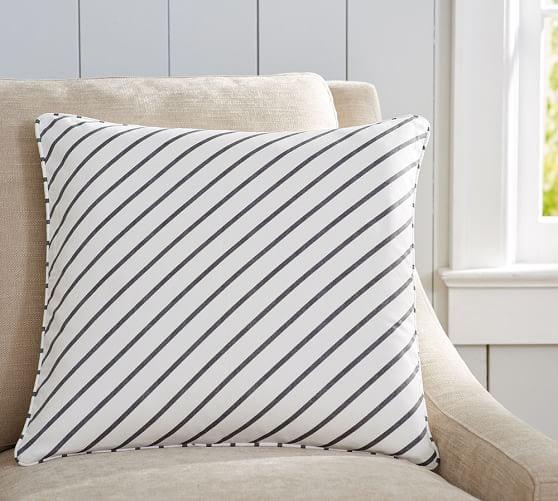 Diagonal Stripe Pillow Cover