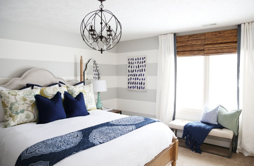 Serene Blue Guest Bedroom Makeover Reveal - Life On Virginia Street