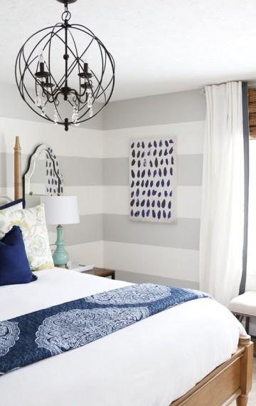 Serene Blue Guest Bedroom Makeover Reveal