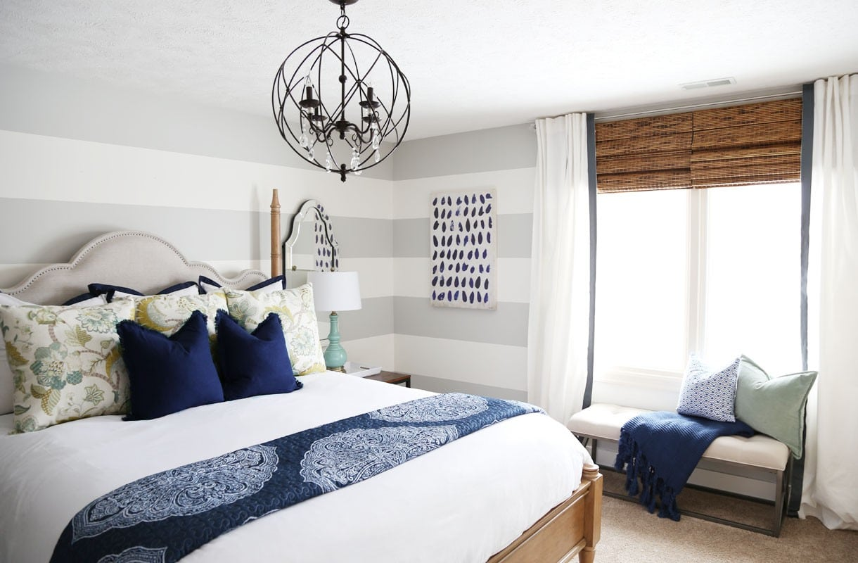 Serene Blue Guest Bedroom Makeover Reveal