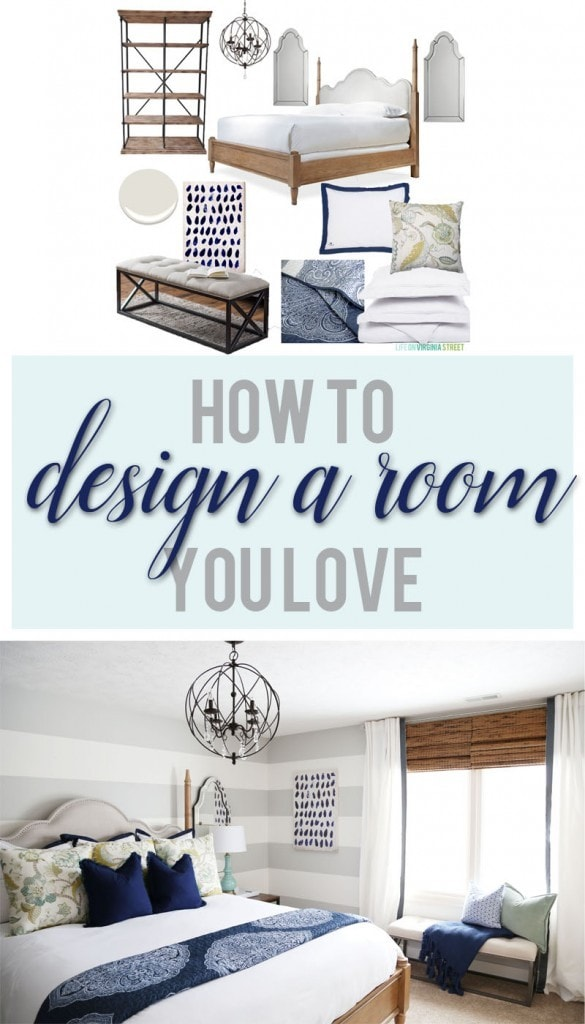 A step-by-step guide for learning how to design a room you love graphic.