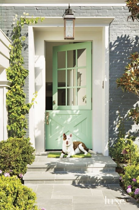 Mint Colored Front Door