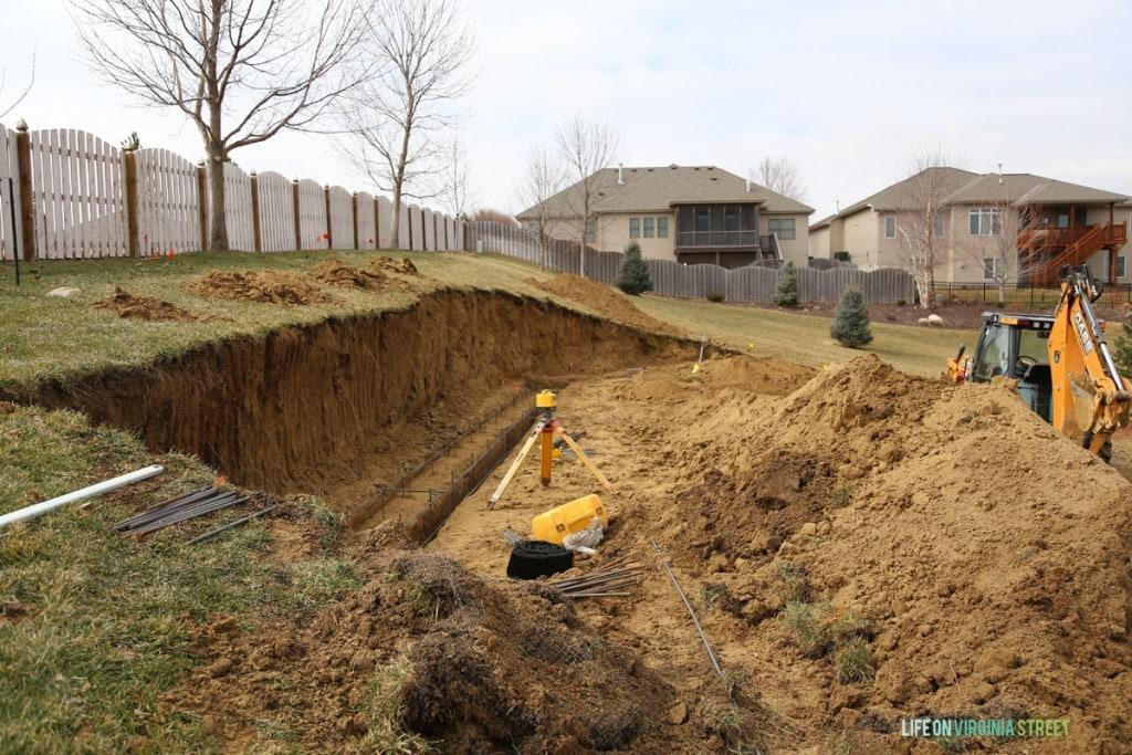 Backyard Retaining Wall Footers