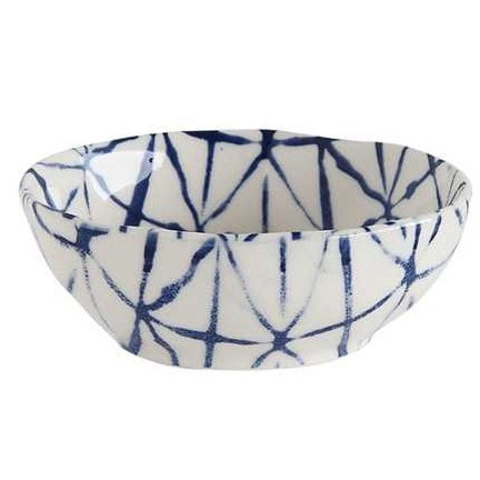 Blue and White Stoneware Dish
