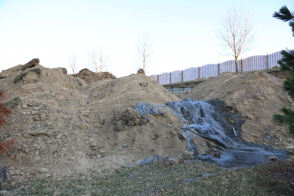 Concrete on Dirt Pile