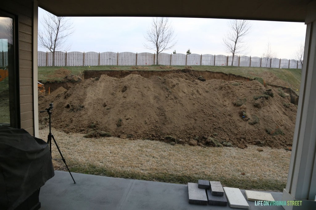 Excavation view from Dining Room