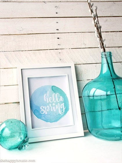 Hello Spring - Free Printable in 10 Color Choices