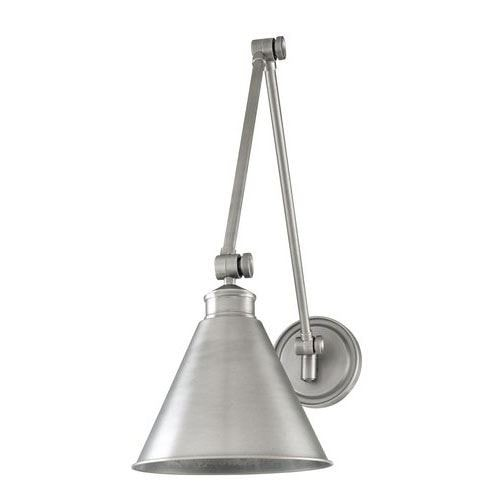 Hudson Valley Lighting Exeter Wall Sconce in a brushed silver.