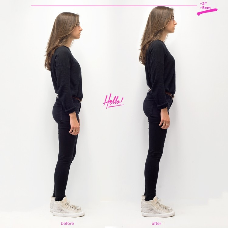 Invisible Heels Before & After Picture