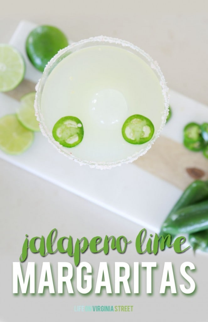 Jalapeno Lime Margarita Recipe via Life On Virginia Street
