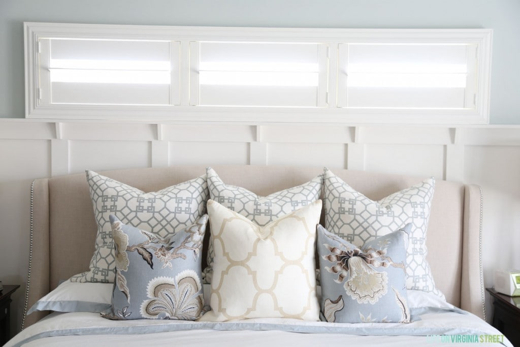 Master Bedroom Pillows - Life On Virginia Street