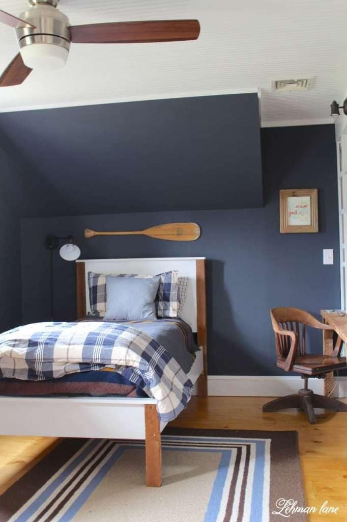 Navy Boys Bedroom Makeover