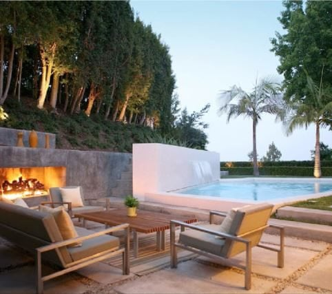 Outdoor fireplace and stone via Markus Canter / Houzz