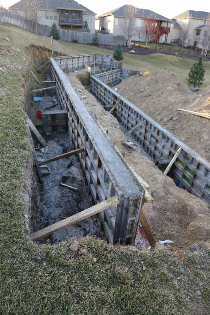 Retaining Wall Gap 03-10-16