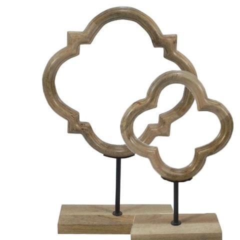 Wood Clover Figurines