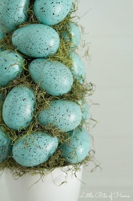 easter egg topiary detail