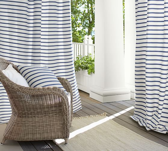 Mini-striped Outdoor Curtain