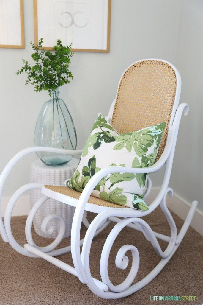 Cane Back Rocker Makeover via Life On Virginia Street