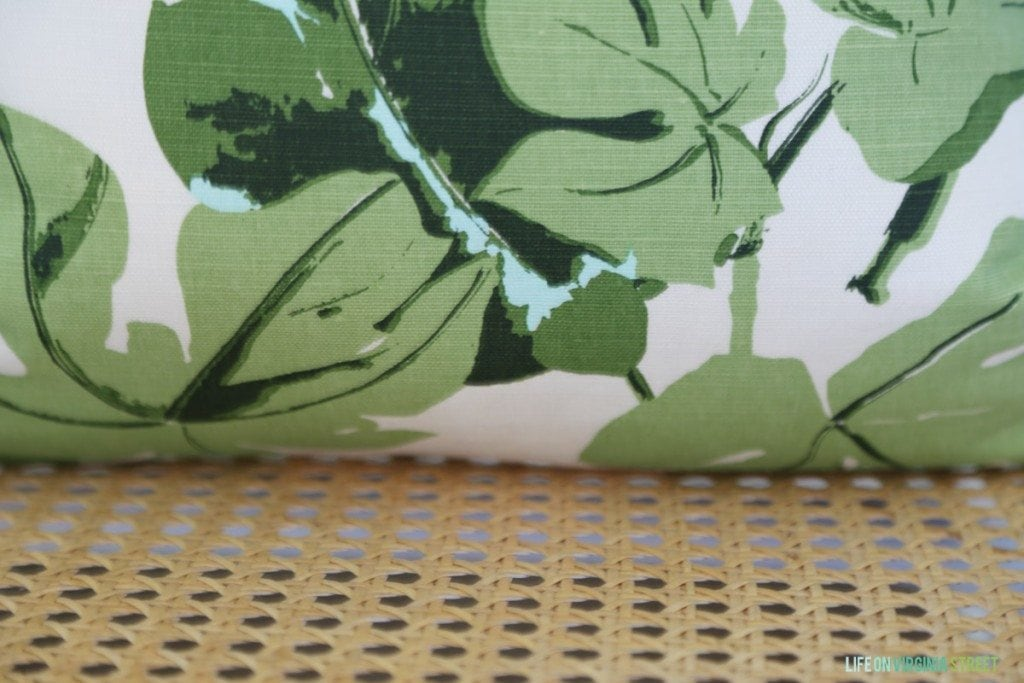 Cane and Fig Leaf Fabric via Life On Virginia Street