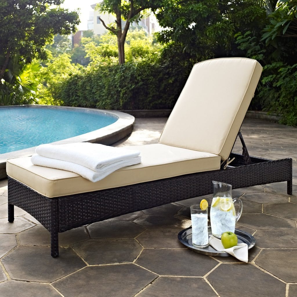 Crosley Palm Harbor Outdoor Wicker Chaise Loung