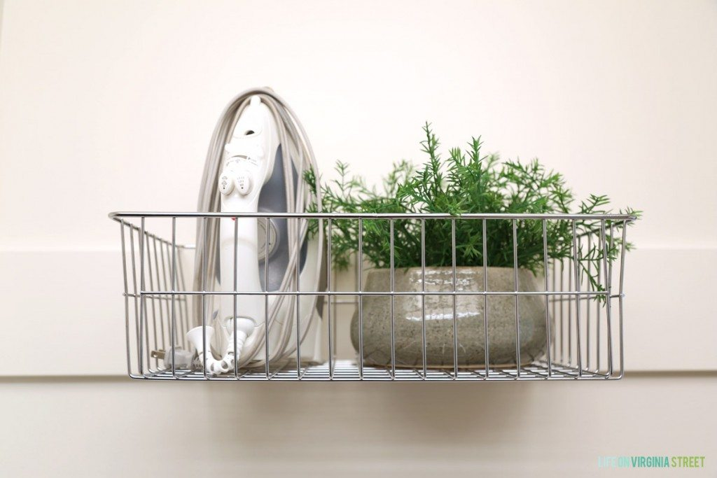 DIY Iron Basket Station - Life On Virginia Street